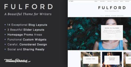 Fulford - Responsive WordPress Blogging Theme - 14912808