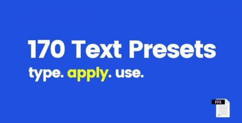 170 Text Presets – 9358175