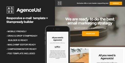 AgenceUs | Responsive HTML Email Template + Stampready Builder – 24749225