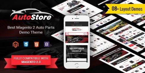 AutoStore – Auto Parts and Equipments Magento 2 Theme with Ajax Attributes Search Module – 22781495