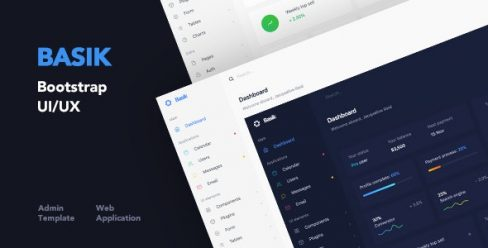 Basik – Responsive Bootstrap Web Application and Admin Template – 23365964
