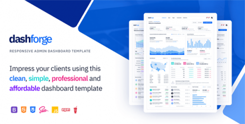 Dashforge Responsive Admin Dashboard Template – 23725961