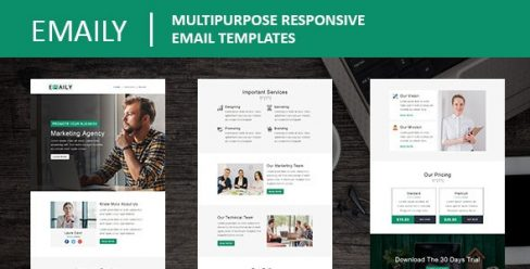 Emaily – Multipurpose Responsive Email Template With Online StampReady Builder Access – 23267743