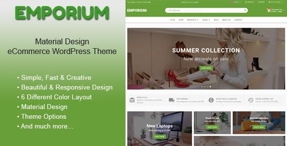 Emporium – Material Design eCommerce WordPress Theme – 23310905