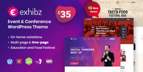 Exhibz | Event Conference WordPress Theme – 23152909