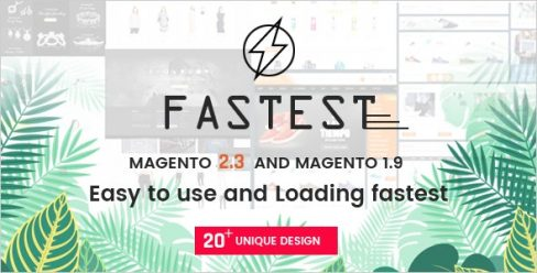 Fastest – Multipurpose Responsive Magento 2 and 1 Fashion Theme – 16178989