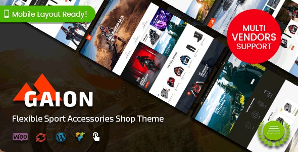 Gaion – Sport Accessories Shop WordPress WooCommerce Theme (Mobile Layout Ready) – 23068764