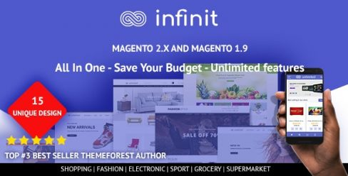 Infinit – Multipurpose Responsive Magento 2 and 1 Theme – 22432458