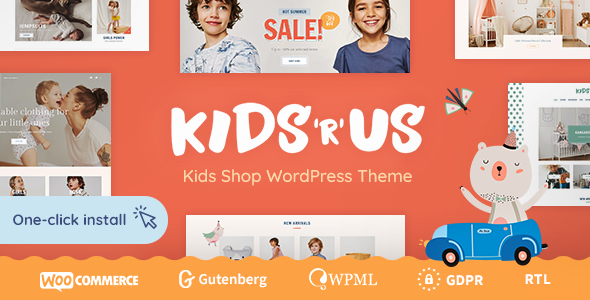 Kids R Us – Toy Store and Children Clothes Shop Theme – 23243618