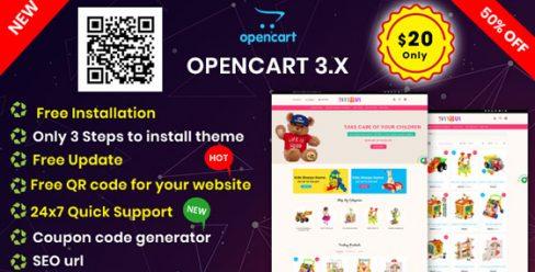 KidsToys OpenCart 3.X Multipurpose Theme – 23951848
