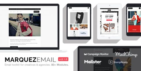 Marquez – Multipurpose Responsive Email: 80+ Sections + StampReady Builder + MailChimp + Mailster – 20192293