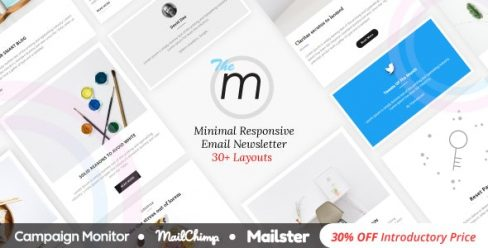 Miley | Minimal Responsive Email Template with Online Builder – 21176802