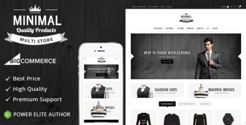 Minimal – Multipurpose Stencil BigCommerce Theme – 20051400