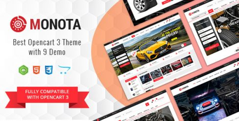 Monota – Auto Parts, Tools, Equipments and Accessories Store Opencart Theme – 22886940