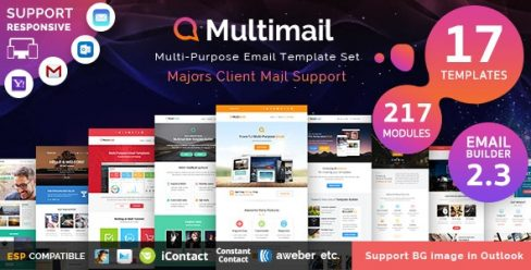 Multimail | Responsive Email Set + Template builder – 12650481