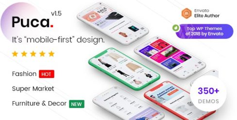 Puca – Optimized Mobile WooCommerce Theme – 21119152