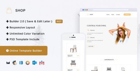 Shop – Responsive Email + Online Template Builder – 15714028