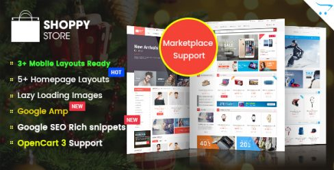 ShoppyStore – Responsive Multipurpose Marketplace OpenCart 3 and 2.x Theme – 14309399