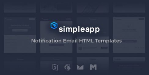 SimpleApp – Notification Email HTML Templates + Online Builder + 42 demos + 4 layout options – 9608791