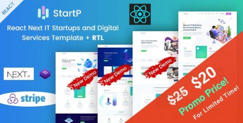 StartP – React Next IT Startups and Digital Services Template – 23634564