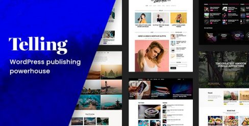 Telling – Multi-Concept News and Publishing Theme – 23816908