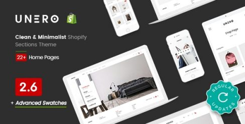 Unero – Clean & Minimal Shopify Sections Theme – 20554880