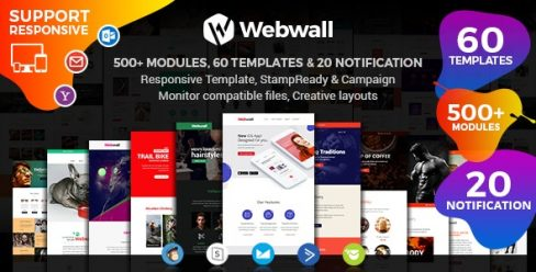 Webwall – Multipurpose Responsive Email Template + StampReady & CampaignMonitor compatible files – 23583468