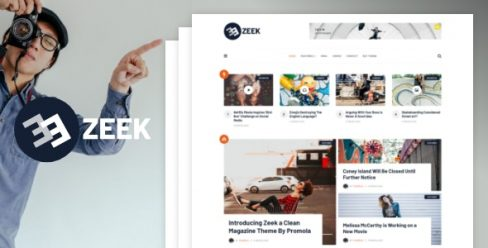 Zeek – A Clean WordPress Blogging / Magazine Theme – 23779832