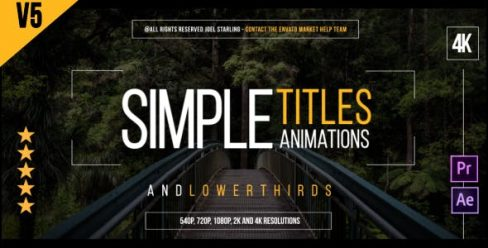 Gold Simple Titles | 4K – 14507047
