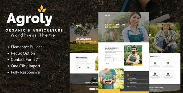 Agroly - Organic & Agriculture Food WordPress Theme - 28996955