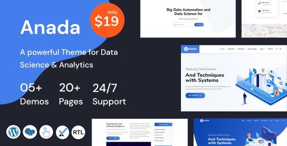 Anada – Data Science & Analytics Saas WordPress Theme – 28914138 Free Download
