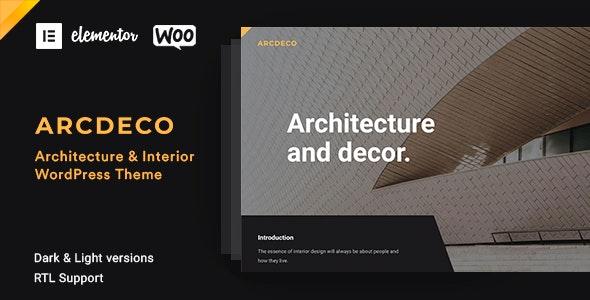 Arcdeco – Architecture & Interior Design Theme – 25915046 Free Download