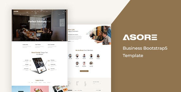Asore – Business Bootstrap 5 Template – 30180638 Free Download