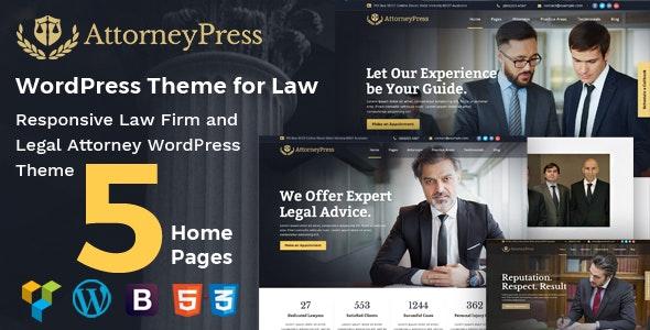 Attorney Press - Lawyer WordPress Theme - 20385629