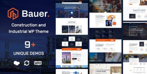 Bauer | Construction and Industrial WordPress Theme – 23904858