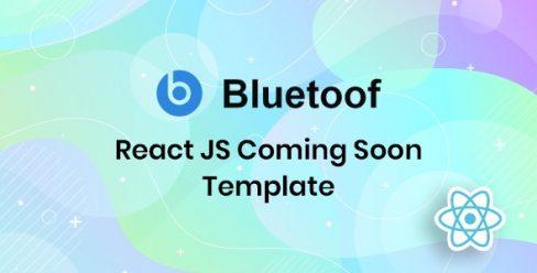 Bluetoof – React JS Coming Soon Template – 26338608