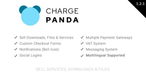 ChargePanda – Sell Downloads, Files and Services (PHP Script) – 25324681