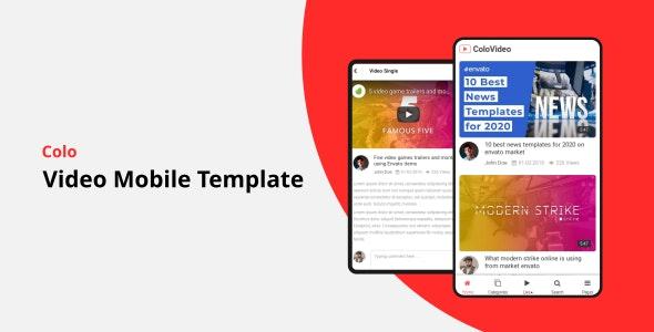 Colo – Video Mobile Template – 25384435 Free Download