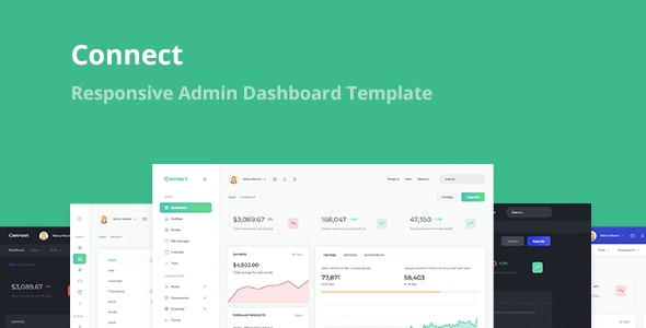 Connect - Responsive Admin Dashboard Template - 26400364