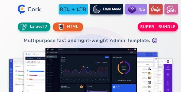 Cork - HTML and Laravel Bootstrap Admin Dashboard Template - 25582188