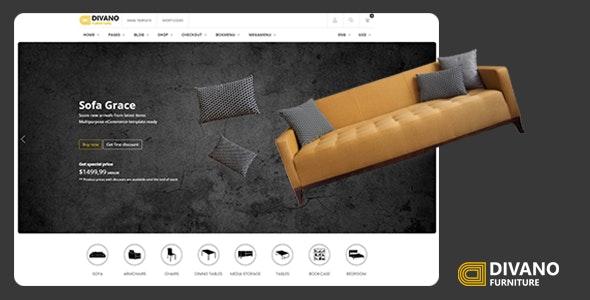 Divano – Furniture HTML Template – 24697407 Free Download