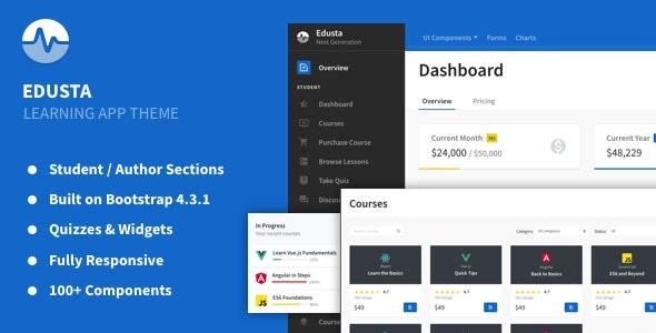 Edusta - Learning App & Education Admin Theme - 23882079