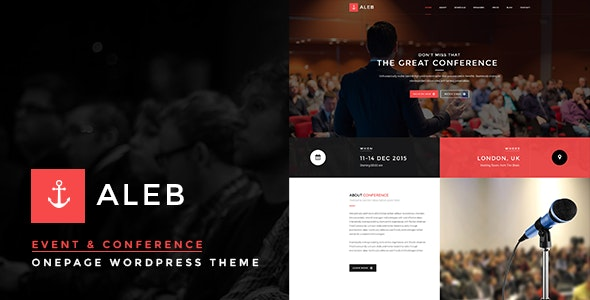 Event WordPress Theme for Conference Marketing – Aleb – 13429442 Free Download