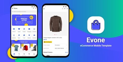 Evone – eCommerce Shop & Store Mobile Template – 25162276
