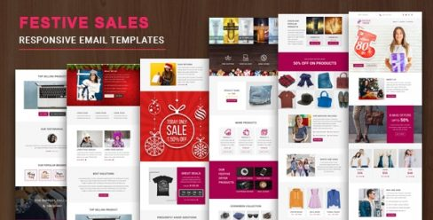 Festive Sales – Responsive Email Template with Online StampReady & Mailchimp Editors – 23019787