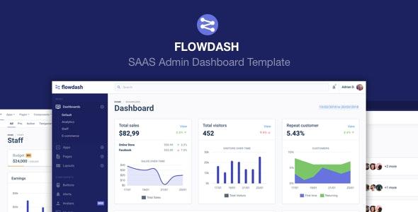 FlowDash - SAAS Admin Dashboard Template - 25586651