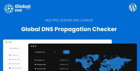 Global DNS – Multiple Server – DNS Propagation Checker – WP – 25869388