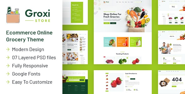 Groxi – Grocery Store Template – 29912661 Free Download