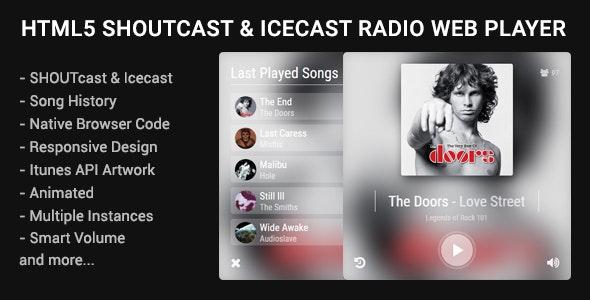 HTML5 Shoutcast & Icecast Radio Web Player - 21330131