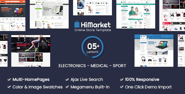 HiMarket - Electronics Store Medical Sport Shop WooCommerce WordPress Theme - 16479584